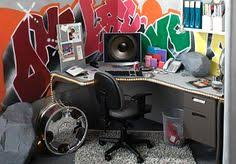 fantastic cool cubicle ideas. Amazing Office Decoration With Cubicles Modern Style: Style Graffity Art Fantastic Cool Cubicle Ideas
