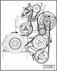 vw touareg v belt is broken please send me a diagram to replace it