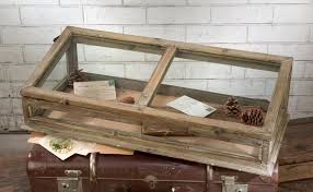 display case vintage style table top shadow box