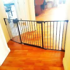 Beneficial Wide Baby Gates For Stairs Easy Walk Thru Top Of Stairs ...