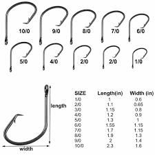 Fishing Hook Chart Actual Size Best Circle Hook For Big Catfish Gamakatsu Hooks Size