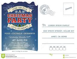 christmas party postcard invitation template stock vector image christmas party postcard invitation template