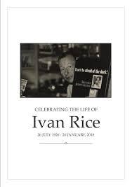 Kings Funerals Ivan Rice Order of Service Booklet | Joomag Newsstand