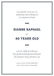 Simple Elegant Birthday Invitation Templates By Canva