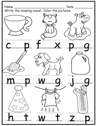 The sounds of consonants and short vowel sounds. Worksheets Short Vowels