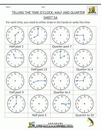 Math : Clock Worksheets Quarter Past And To Telling The Time Blank ...