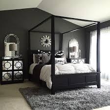 dark bedroom furniture. bedroomsmodern bedroo with black canopy bed also mirrored nightstand gray fluffy rug dark bedroom furniture u