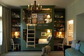 Bunk Beds with Desk Kids Eclectic with None