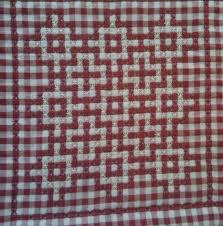 Making a Chicken Scratch Quilt | ThriftyFun & Interlocking crosses block. Adamdwight.com