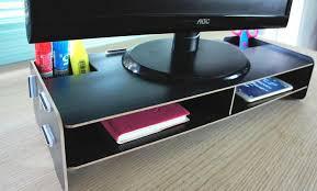 YUI Monitor Riser Cabinet Wooden DIY Computer Desktop Table