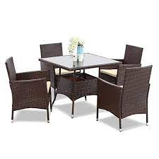 chair set square tempered glass table