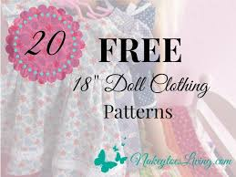 American Girl Clothes Patterns Amazing 48 Free 48 Doll Clothes Patterns Nakeytoes Living