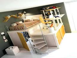 bed with office underneath. Bed With Closet Underneath Office Desk Plans Efficient Loft .