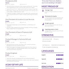 Marissa Mayer Resume Modern Yahoo Resume Template Yahoo CEO Marissa Mayer S One Page CV 16