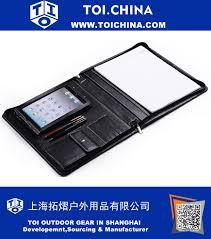 zip close ipad mini leather portfolio case with quick release holder zt