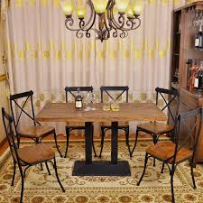 wrought iron and wood furniture. Wood Solid Furniture Wrought Iron Tables And Chairs Cafe Lounge Creative Combination Of Restaurant