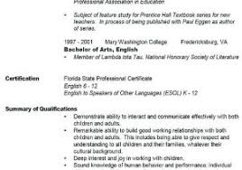 Substitute Teacher Resume No Experience From First Time Resume