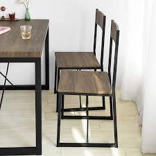Sobuy Fst67x4 4 Er Set Esszimmerstuhl Mit Rücken Lehne Küchenstuhl Holzstuhl Balkonstuhl Metall