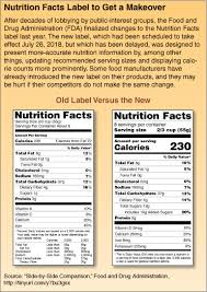 the graphic shows a parison between the cur nutrition facts food label and the revised label