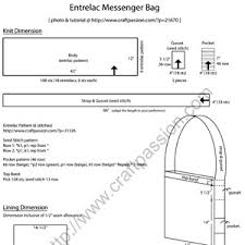 Messenger Bag Pattern Mesmerizing Entrelac Messenger Bag Free Knit Pattern Craft Passion