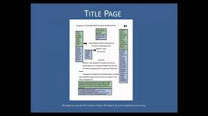 Collection Of Solutions Purdue Owl Apa Formatting The Basics Youtube