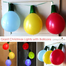 giant balloon lights and ornaments