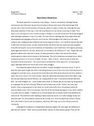 black history month essay african american history racism