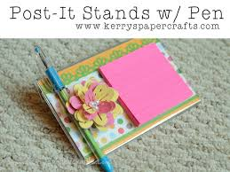 diy post it stands with pen tutorial great gifts for teachers