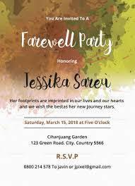 Flyer Samples Templates Adorable Farewell Party Invitation Template Design Flyer Templates