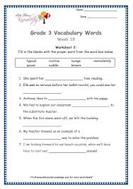 Vocab Building Worksheets Grade 3 Vocabulary Worksheets Week 19 Lets Share Knowledge
