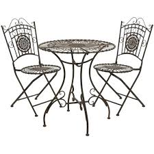 iron bistro set outdoor oriental furniture rustic wrought iron patio bistro set set up a sophisticated