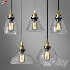 modern industrial brushed steel pendant light set