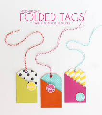 Folding Gift Tags Modern Bright Easy Gift Card Tags Christmas Crafts