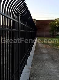 Metal fence design Backyard High Security Aluminum Fencing And Gates Greatfencecom Aluminum Fence Designs Greatfencecom