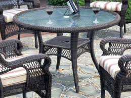 patio table chairs wicker patio table round patio table and chairs cover with umbrella hole