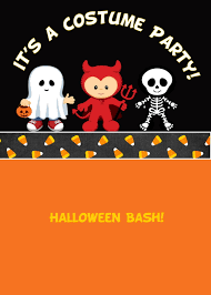 printable about halloween birthday party invitations it s a costume party hallowen invitation