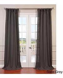linen curtain panels. Heavy Faux Linen Curtain Panel (Slate Grey- 84\ Panels S