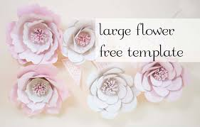 Paper Flower Template Free Giant Paper Flowers Free Template Charmed By Ashley