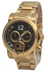 buy aigner gold steel black face mens watch shop fashion aigner gold steel black face mens watch