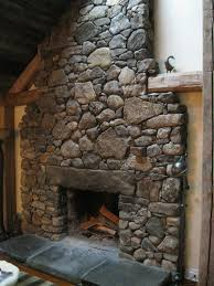Field Stone Fireplace Sumptuous 20 Fieldstone With Granite Lintel Amp  Hearth.