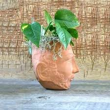 italian planters terracotta wall vintage head planter garden decor hanging pots nz