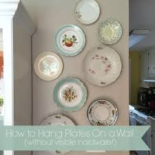 how to hang plates without visible hardware simply mrs edwards