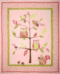 Owl Tree Nursery Quilt Panel Pink - Discount Designer Fabric ... & Owl Tree Nursery Quilt Panel Pink - Discount Designer Fabric - Fabric.com Adamdwight.com