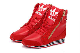 adidas shoes high tops womens. adidas high grade 365-day return durable originals casual high-heeled shoes red womens tops t