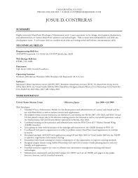 Modern Decoration Net Developer Resume Sample Asp Net Resume Samples
