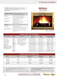 Fireplace Door Size Chart Thermo Rite Regal Glass Fireplace Door