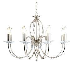 8 light polished nickel chandelier lighting drum shade
