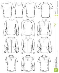 Clothes Template Collection Of Men Clothes Outline Templates Stock Vector