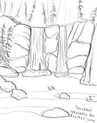 how to draw a waterfall step 3