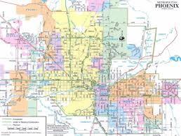 map of phoenix and surrounding area  map of phoenix arizona and